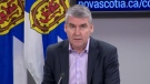 Nova Scotia Premier Stephen McNeil provides an update on COVID-19 during a news conference in Halifax on March 25, 2020.