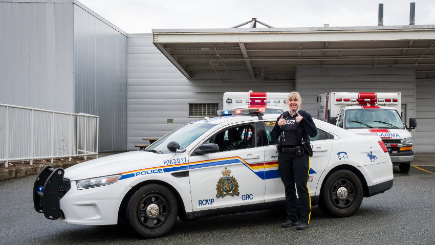 Ridge Meadows RCMP is showing their support for healthcare workers with an initiative they have called