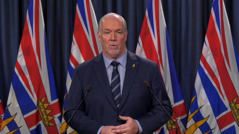 Premier John Horgan announced the protections for renters in Victoria on March 25, 2020. (CTV News)