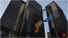 Bay Street in Canada's financial district is shown in Toronto on Wednesday, March 18, 2020. THE CANADIAN PRESS/Nathan Denette