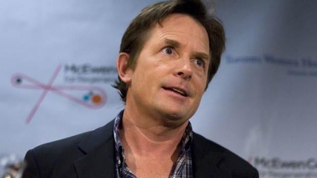 Michael J. Fox attends a news conference at the University Health Network in Toronto on Thursday, Sept. 24, 2009. (Chris Young / THE CANADIAN PRESS)