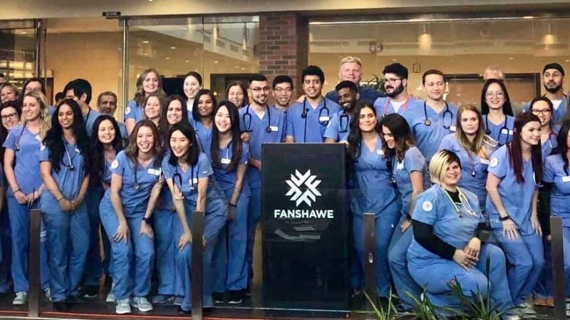 The 2020 graduating class of Respiratory Therapists at Fanshawe College. (Courtesy Fanshawe College)