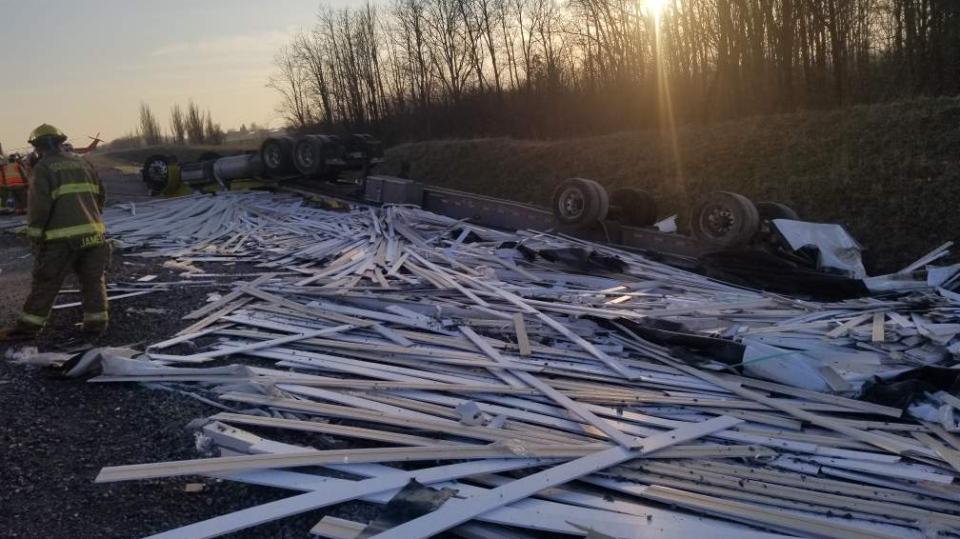 Transport Truck Crash in Southwold, Ontario