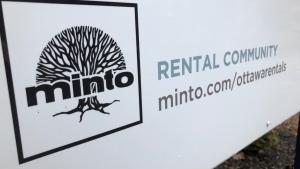 A Minto Apartments sign in Ottawa. (Ted Raymond / CTV News Ottawa)