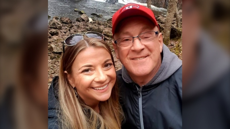 Kelly Marshall is seen with her father, Rick Cameron. Cameron is in hospital in critical condition after testing positive for COVID-19. (Submitted: Kelly Marshall)