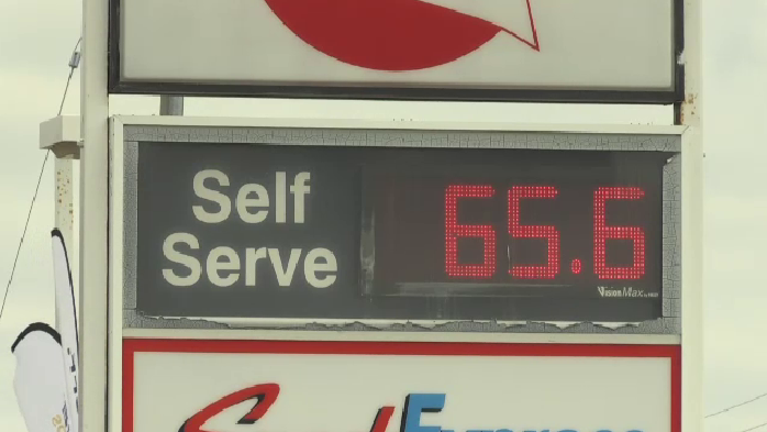 Gas prices seen at 65.6 cents in Kitchener