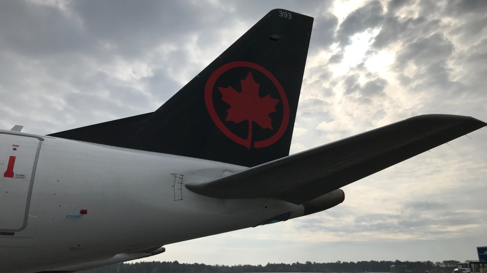 Muskoka Airport becomes a temporary resting place for grounded Air Canada jets amid the COVID-19 pandemic. (Rob Cooper/CTV News)