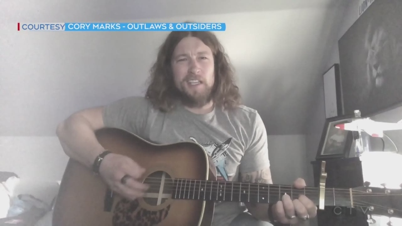 North Bay country music star Cory Marks has a message for northerners and performs his song Outlaws and Outsiders. (CTV Northern Ontario)