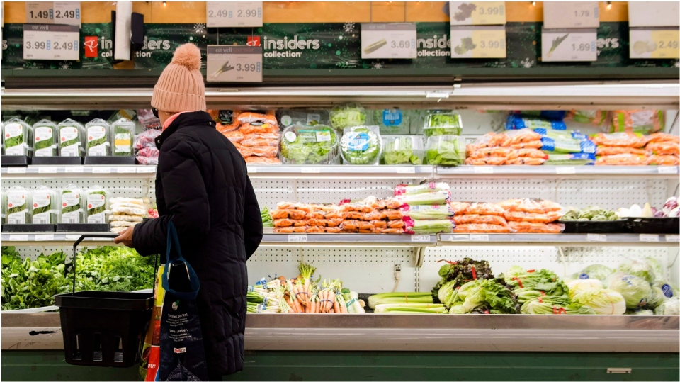 Person looking at produce.