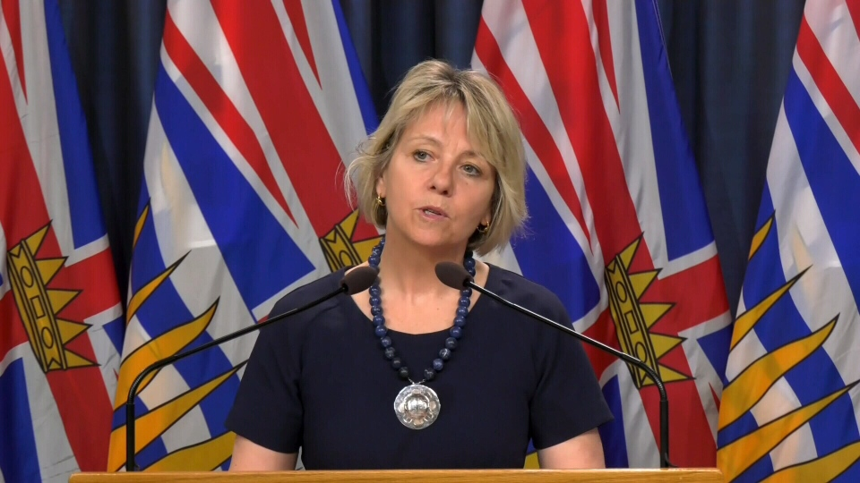 B.C.'s provincial health officer Dr. Bonnie Henry announces new COVID-19 cases from Victoria on Thursday, March 26, 2020. (CTV News)