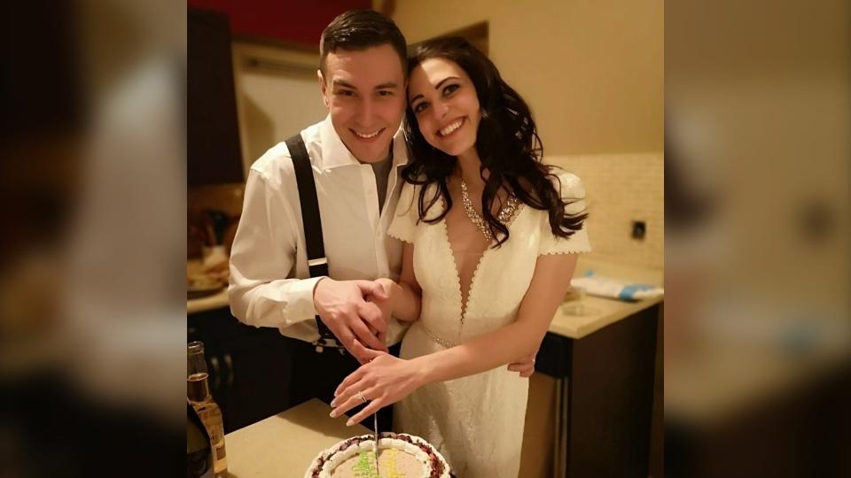 Edmonton couple has self-isolation wedding