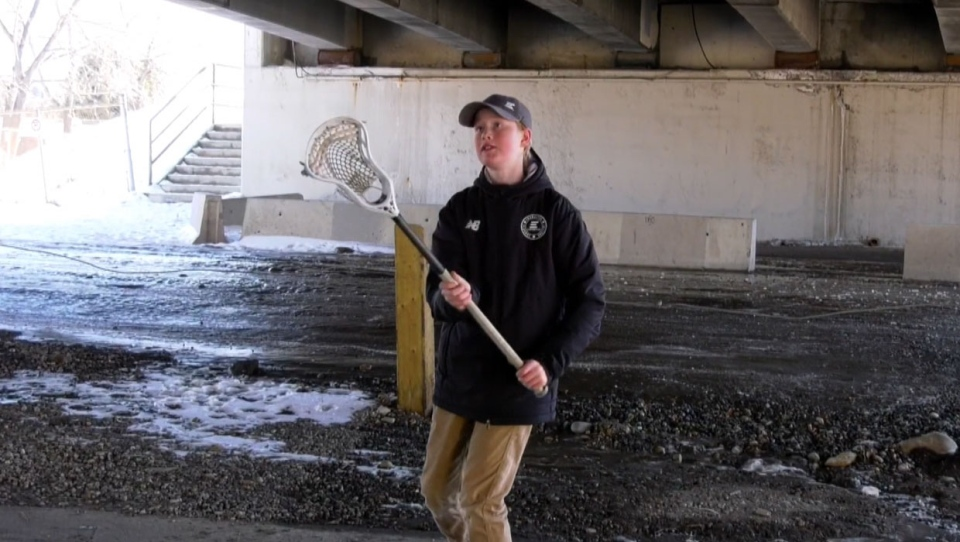 Cohen Fluet, 13, had to look elsewhere for the perfect place to practice lacrosse because of COVID-19.