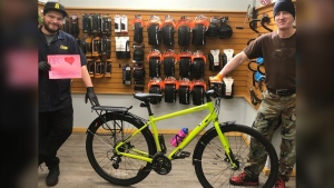 Oak Bay Bicycles and Norco Bicycles worked together to provide a local health-care worker with a new bike after hers was stolen: (Oak Bay Bicycles / Facebook)