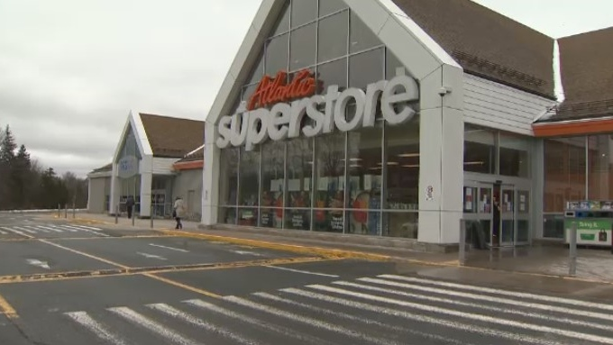 An Atlantic Superstore is seen in Bedford, N.S. on Friday, March 27, 2020. The location closed for cleaning after an employee tested positive for COVID-19.