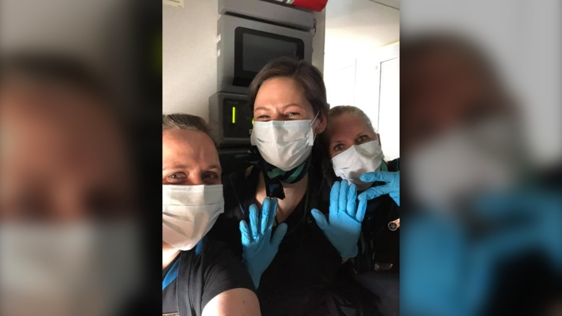 Brandy Whitby is one of dozens of WestJet crew members who are helping repatriate Canadians stuck abroad during the COVID-19 pandemic.