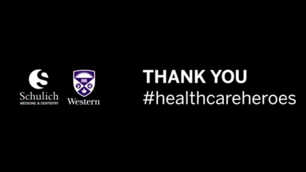Western University thanks #healthcareheroes