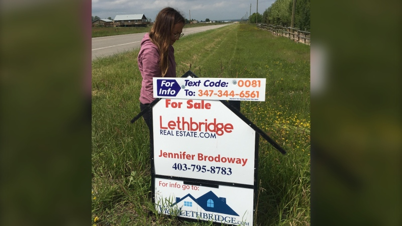 Jennifer Brodoway, a Lethbridge real estate agent, says business is still brisk in southern Alberta despite COVID-19.