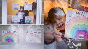 Mary Cappadocia's kids are sending messages of positivity out into the world from inside their home.
