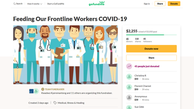 Ottawa Doctor hopes you'll help feed frontline health care workers during COVID-19