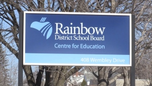 (File photo) Rainbow District School Board sign