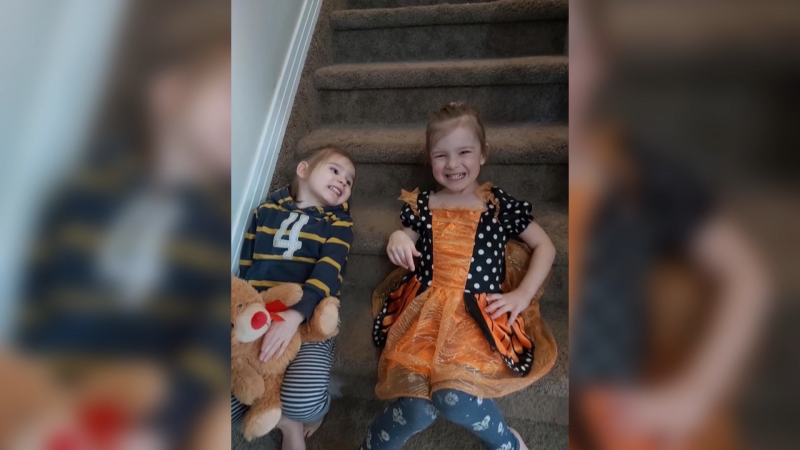 Samuel and Madeline Boivin already had their birthday parties cancelled when a thief swiped their presents, but thankfully, Parkland RCMP stepped in. March 27, 2019. (Submitted)