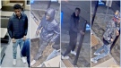 Police released photos of four suspects from a violent assault at a southwest McDonald's. (Calgary police)
