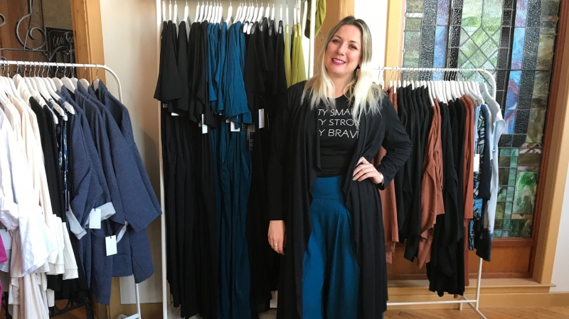 Fashion designer and retailer Sarah Sue MacLachlan hopes the measure will help her small business, Sarah Sue Design. (Source: Josh Crabb/ CTV News Winnipeg)