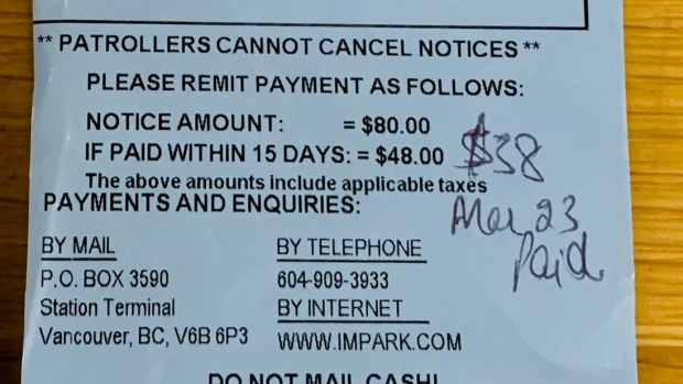 B.C. nurse given parking ticket at hospital will be refunded, company claims