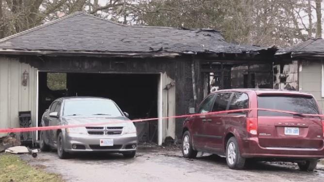 Arson investigation in fire