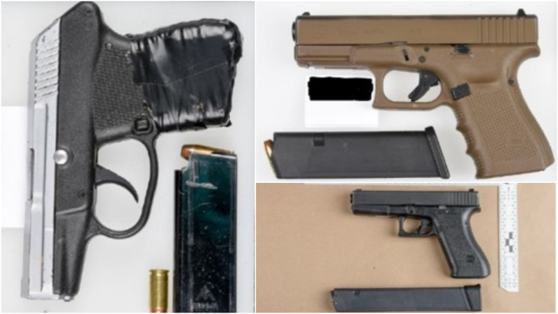 Peel police have charged a man in connection with a 2019 shooting in which a number of firearms were seized. (Peel Regional Police)