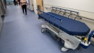 A transport bed is seen at a Canadian hospital in this file photo dated Thursday, January 16, 2020.THE CANADIAN PRESS/Ryan Remiorz