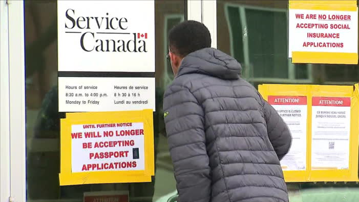 CTV National News: Service Canada shuts down