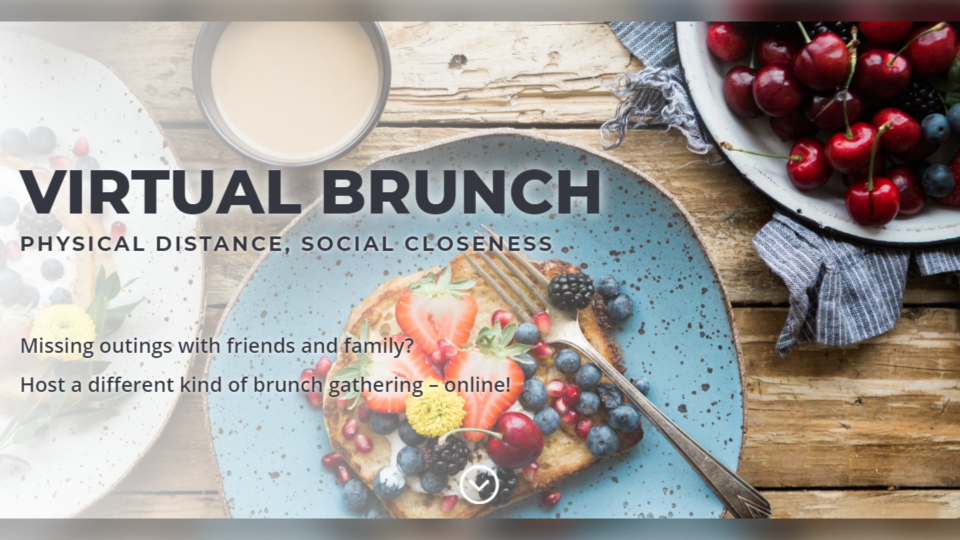 The website virtualbrun.ch offers people a way to enjoy the social aspects of brunch while practicing physical distancing during the COVID-19 pandemic. (Photo: virtualbrun.ch)