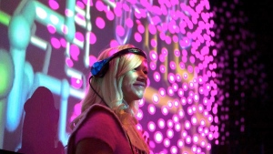 DJ Poptrt will take to her mixer at midnight Saturday to spin as part of the Virtual Pow Wow Fest, an online electronic music festival that is running Friday-Sunday on Twitch TV. SOURCE Maryse Boyce