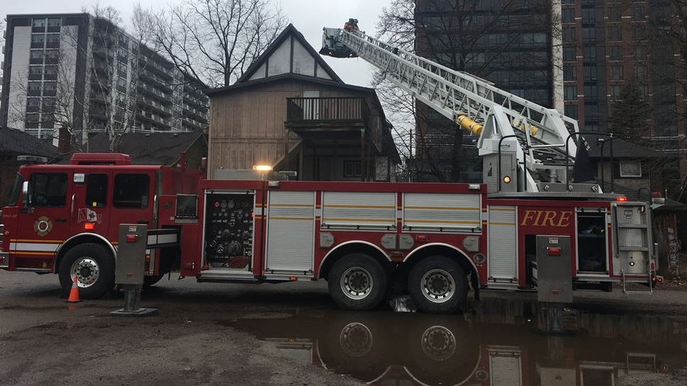 Fire at 1246 Richmond St. in London, Ont.