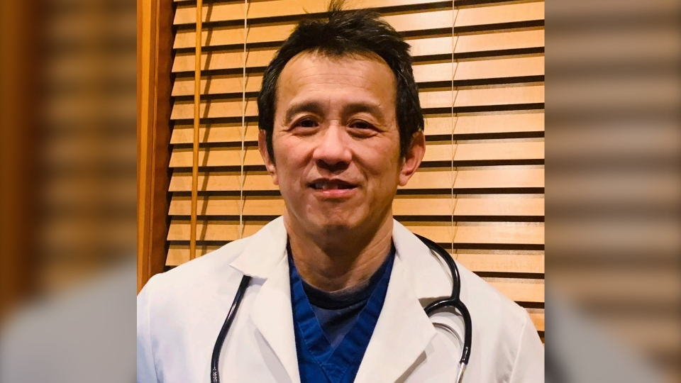 A photo provided by Ming Lin, date not known, shows Dr. Ming Lin, an emergency room doctor at PeaceHealth St. Joseph Medical Center in Bellingham, Wash. Lin said Friday, March 27, 2020, he was fired after publicly criticizing the hospital's coronavirus preparations. (Dr. Ming Lin via AP)