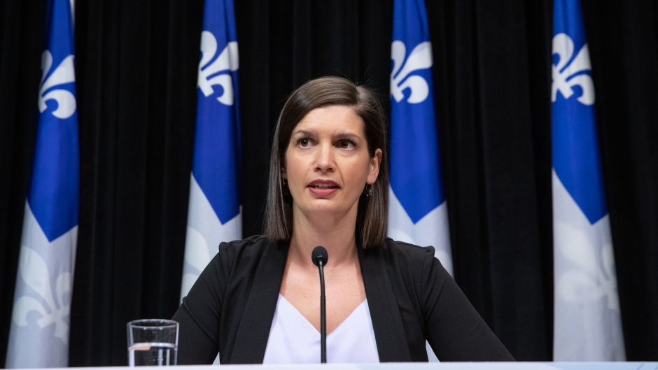 Quebec Deputy Premier and Public Security Minister Genevieve Guilbault. (Handout).
