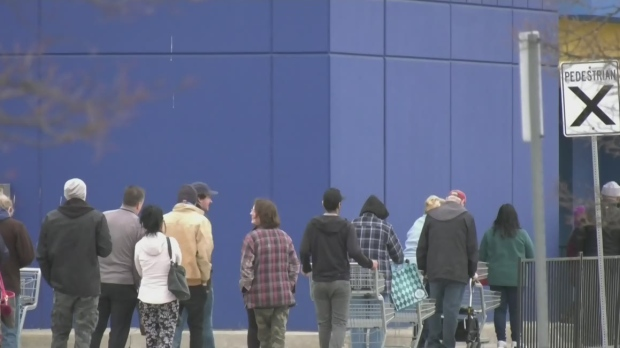 Long lines a new norm at stores amidst pandemic