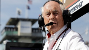 Roger Penske at Indianapolis Motor Speedway, in Indianapolis, on May 16, 2017. (Darron Cummings / AP)