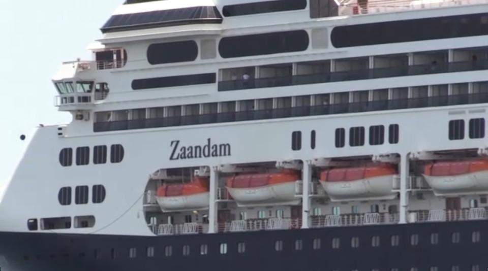 The Zaandam cruise ship.