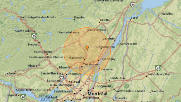 Minor earthquake shakes just outside of Montreal early Sunday morning