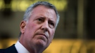 New York City has become the epicentre of the coronavirus outbreak in the US. New York City Mayor Bill de Blasio said the city only has enough medical supplies to last through the week. (Drew Angerer/Getty Images North America/Getty Images/CNN)