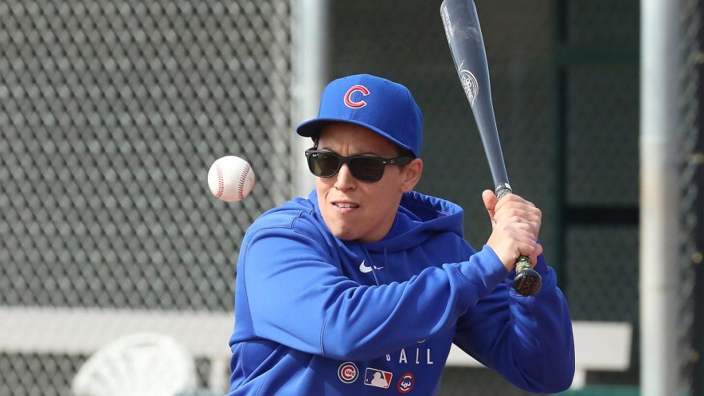 Cubs minor league hitting coach Rachel Folden