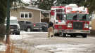 Firefighters were called to the 600 block of Wascana Crescent S.E. at around 12:45 p.m.