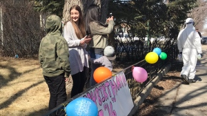 Mahayla Hastings was surprised with a sweet 16 celebration that respects current physical distancing and gathering rules. (Stefanie Davis / CTV News Regina)