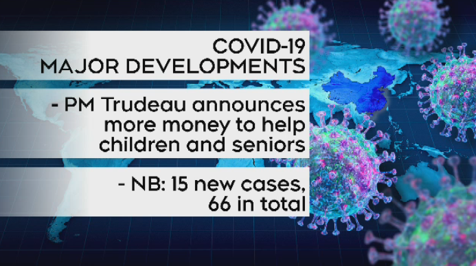 15 new cases of COVID-19 reported in New Brunswick, 12 more reported in Nova Scotia.