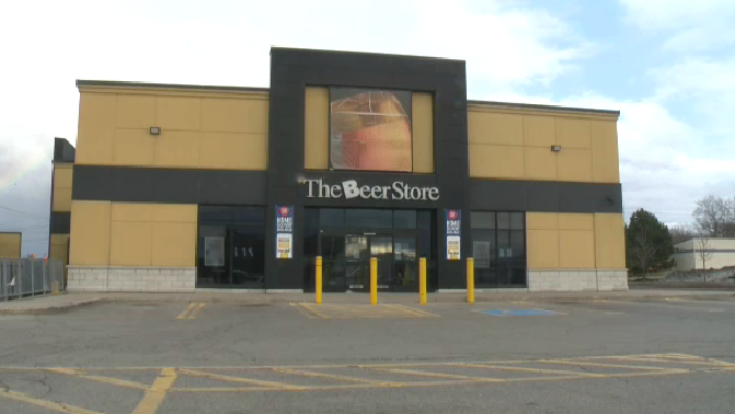 The Beer Store at 875 Highland Road in Kitchener. (Mar. 29, 2020)
