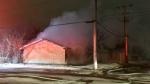Garage fire, March 30
