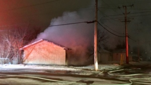 Garage fire, March 30