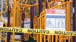 A taped off play structure in Toronto on Thursday March 26, 2020. THE CANADIAN PRESS/Frank Gunn